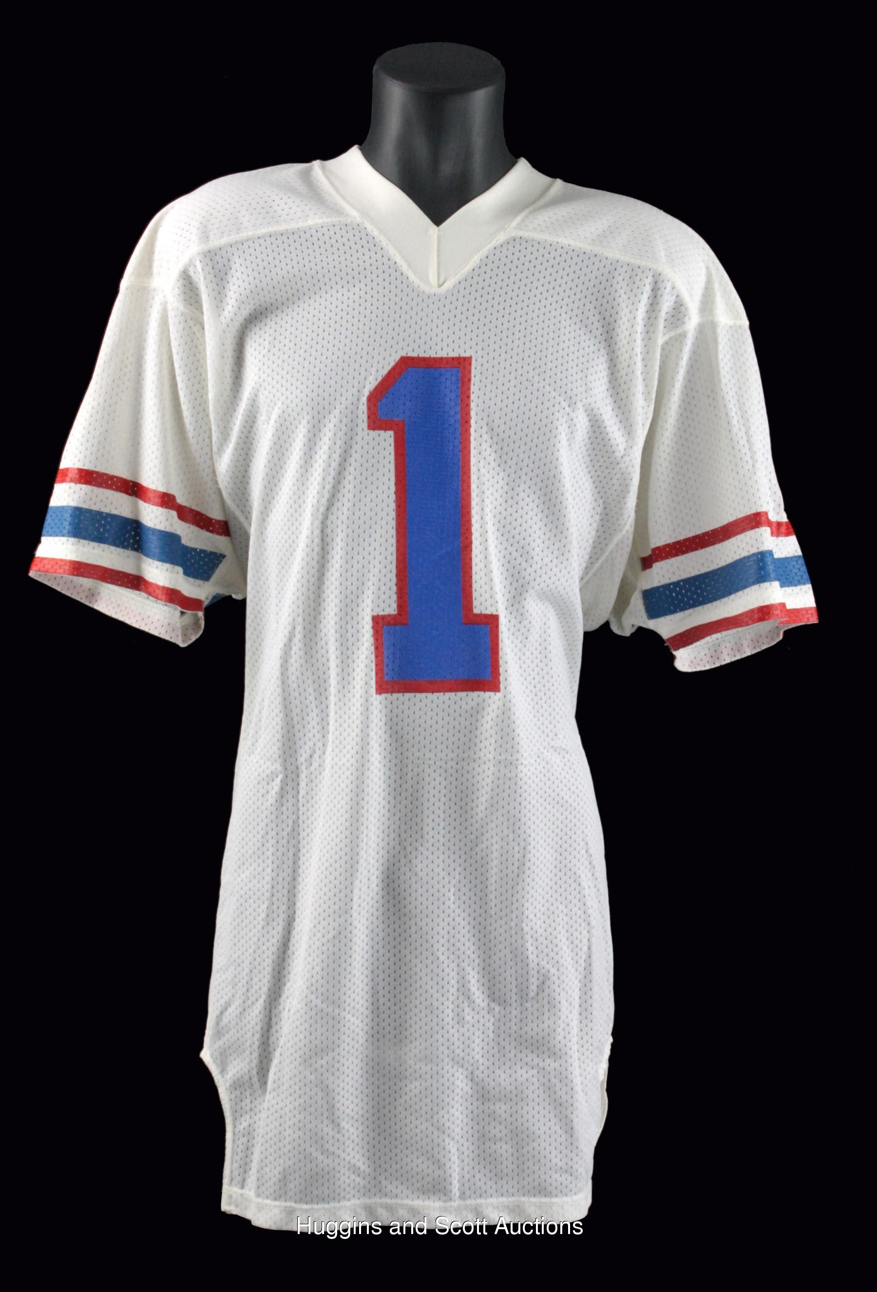 6150383f050 Warren Moon 1985-1988 Signed Game-Issued Houston Oilers Road Jersey