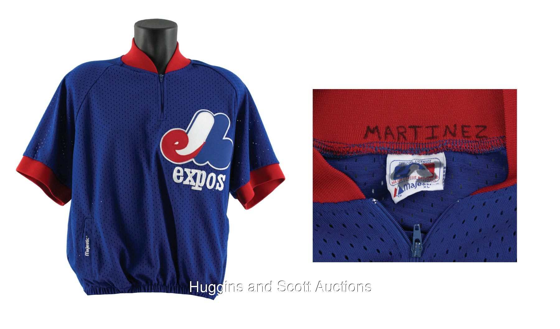 factory authentic c0a32 8b69f Pedro Martinez 1994 Montreal Expos Game-Worn Warm-Up Jersey